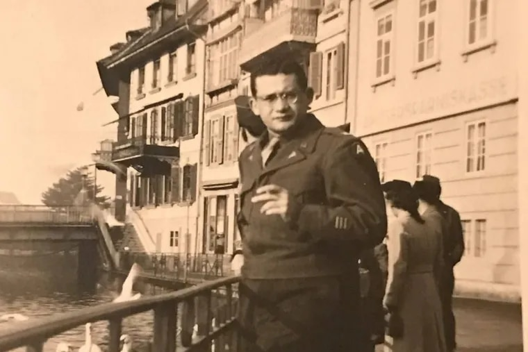 George Manstein, as a young doctor in the Army in Italy during World War II.