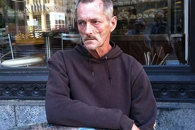 Don Davis, at City Hall Coffee House. (Stu Bykofsky / Staff)