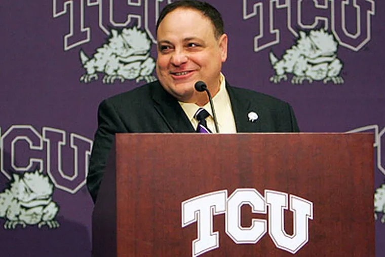 Big East commissioner John Marinotto added a large new market to his conference's reach with TCU. (David Pellerin/AP)