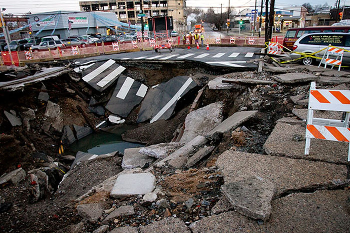 Businesses clean up after water-main break in Frankford