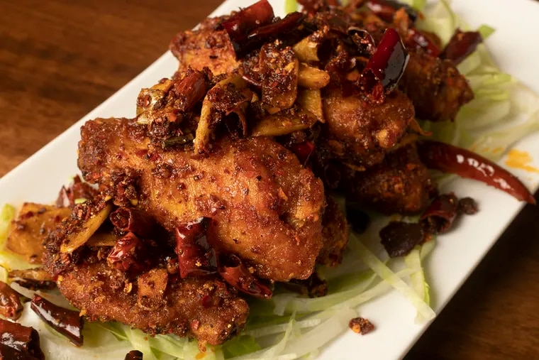 Dry Pepper Chicken Wings at Mama Wong in Exton, Pa., on Thursday, July 11, 2019.