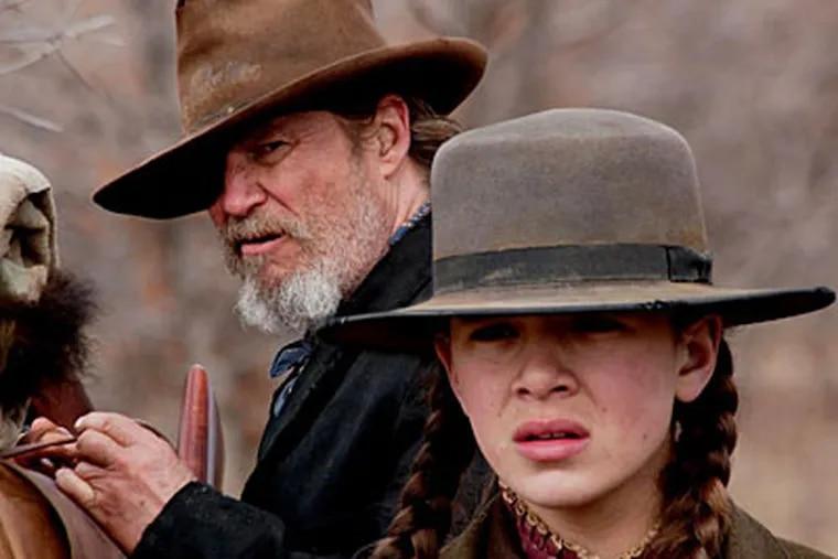 "Jeff Bridges and newcomer Hailee Steinfeld star in ""True Grit."""