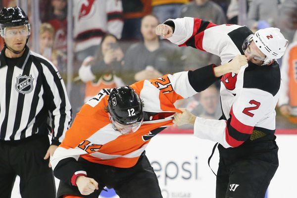 Flyers go 19 games without a fight, the longest stretch to start a season in franchise history