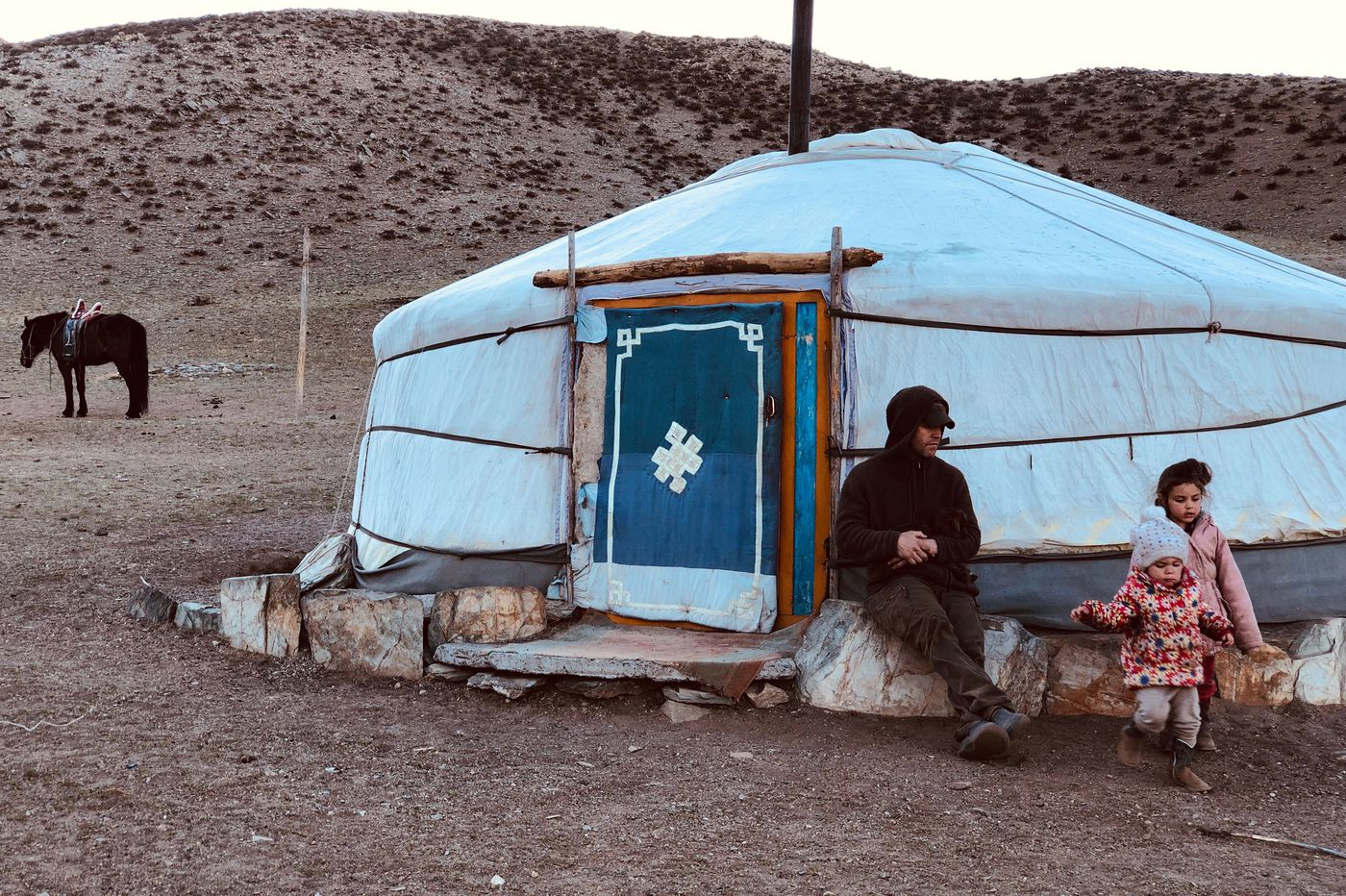 On the Mongolian steppe: No phone, no pool, no pets (i.e., don't get attached to the animals)