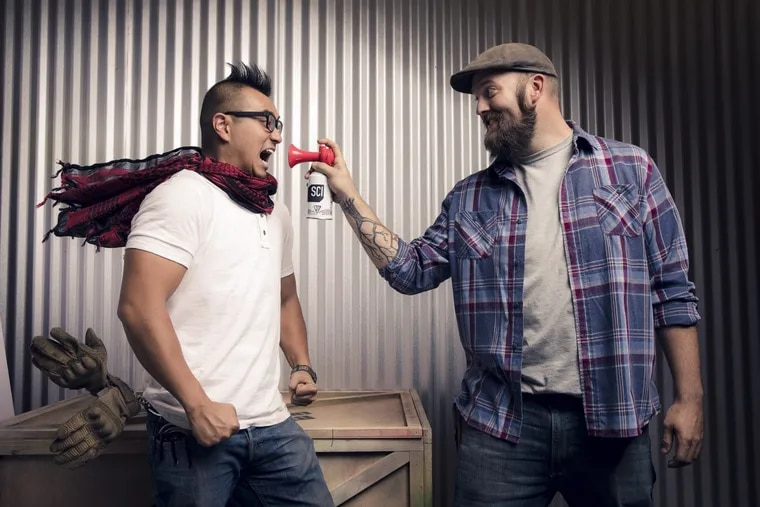 """Jon Lung (left) and Brian Louden are the hosts of the rebooted """"Mythbusters"""""""