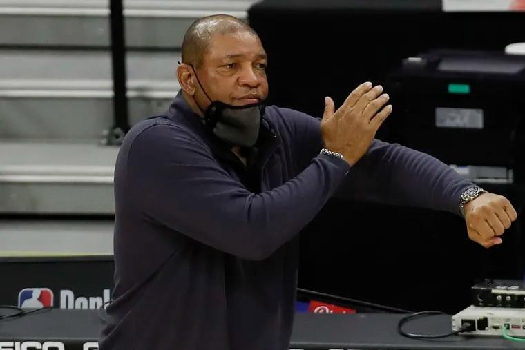 Sixers coach Doc Rivers shrugs off Vincent Poirier criticism.