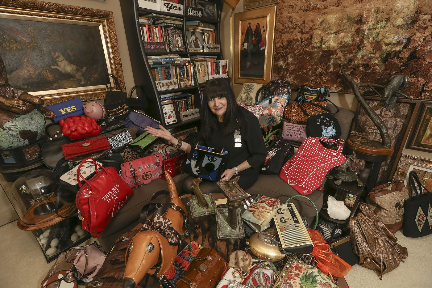 This Pa. woman owns 3,000 handbags, and she keeps them in an army bunker | Elizabeth Wellington