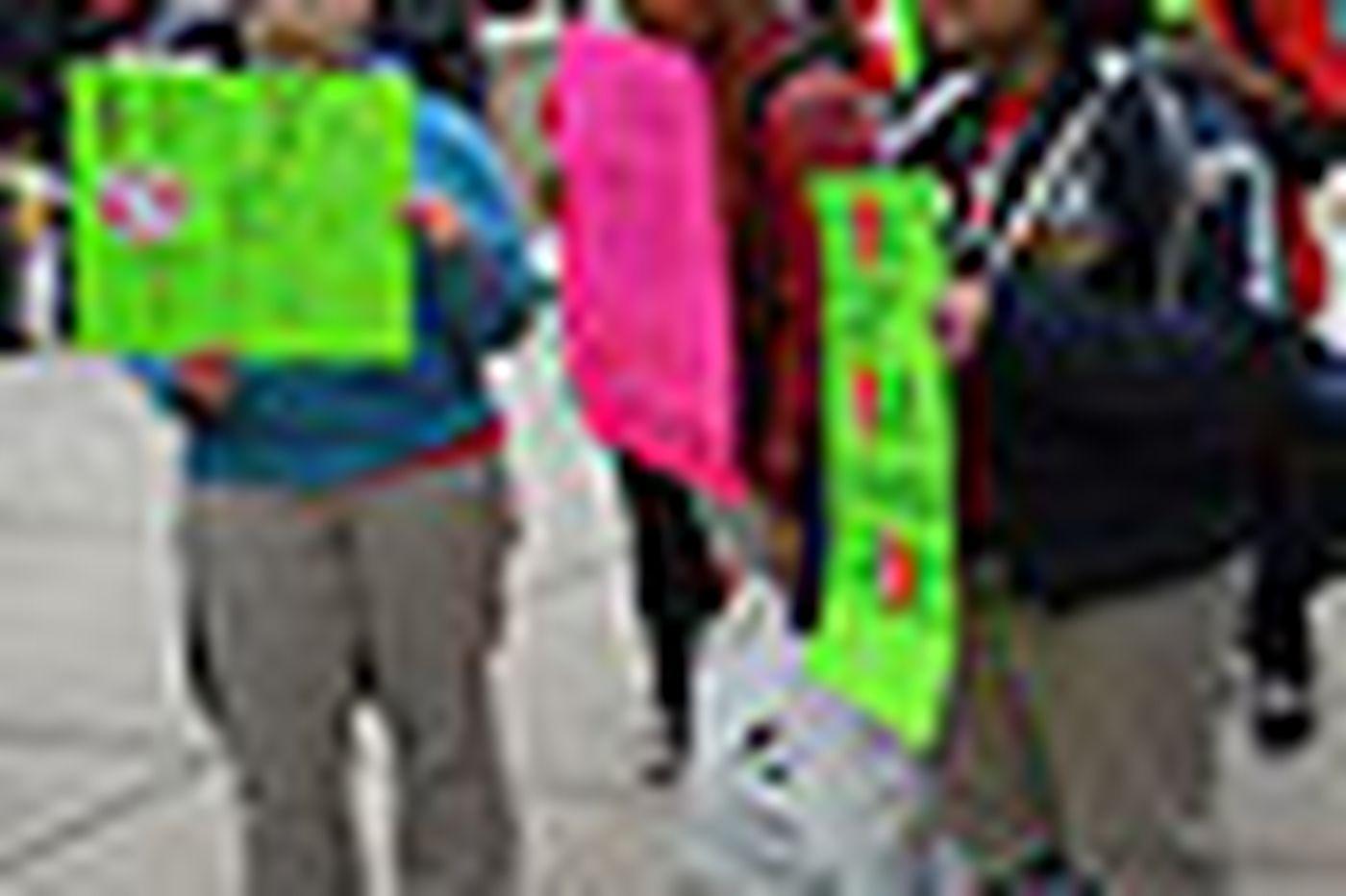Rally targets Corbett's education cuts
