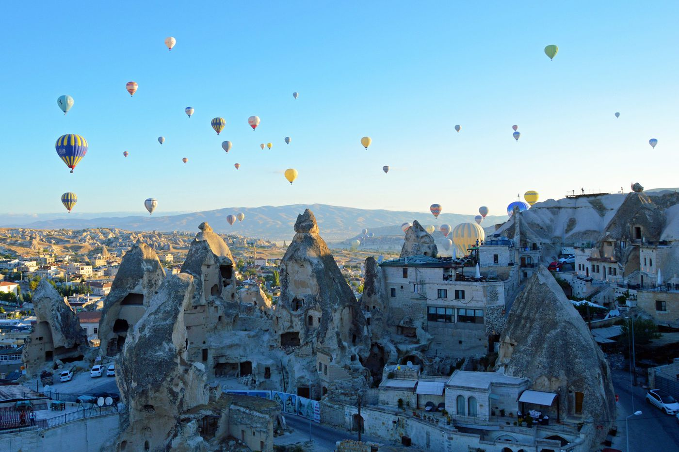 In central Turkey's Cappadocia, a landscape of fairy chimneys and cave dwellings