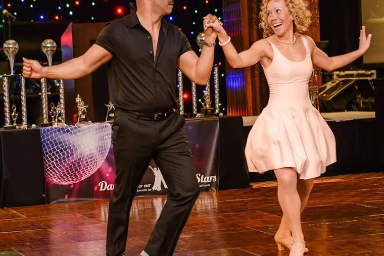 """District Attorney Seth Williams and Katie Miccarelli raised about$8,000 for the """"Dancing for Our Future Stars"""" event."""