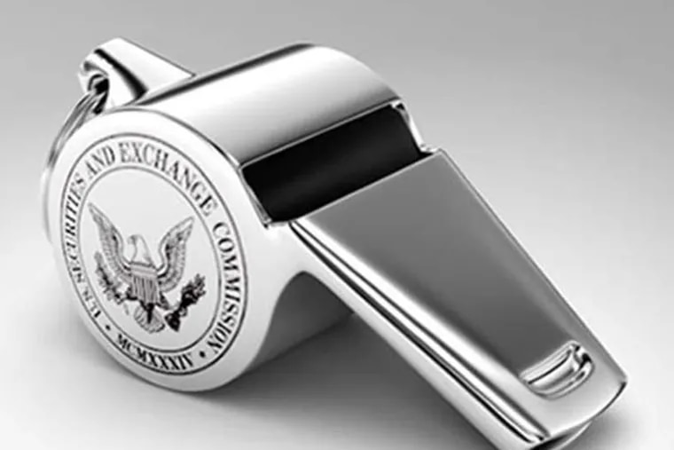 The SEC officially seeks whistle-blowers, but a senior counsel says she learned otherwise.