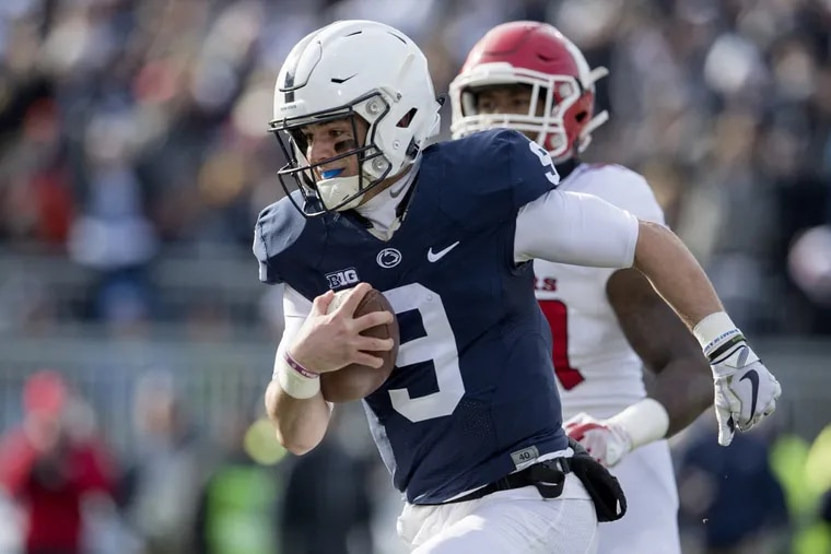 Penn State quarterback Trace McSorley runs for a touchdown against Rutgers on Saturday, Nov. 11, 2017.