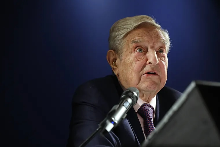 George Soros, billionaire and founder of Soros Fund Management, at the World Economic Forum in Davos, Switzerland, on Jan. 24, 2019. Soros recently poured $1 million into a Pennsylvania political action committee.