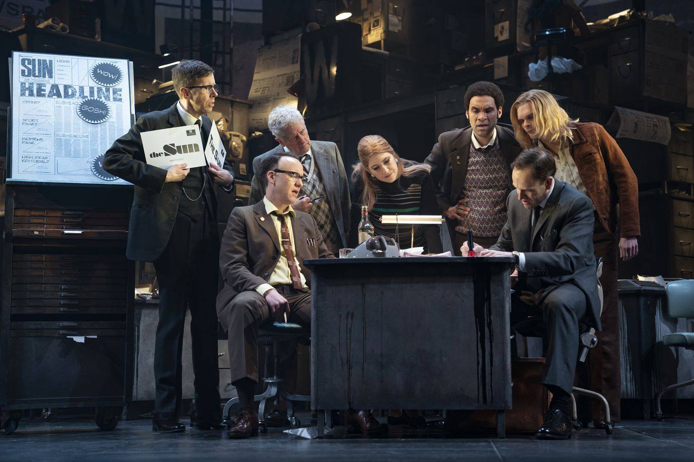 New York Theater: 'Ink' at the Manhattan Theatre Club, Samuel J. Friedman Theatre: Long, talky, powerful tale of two journalists' rise to power
