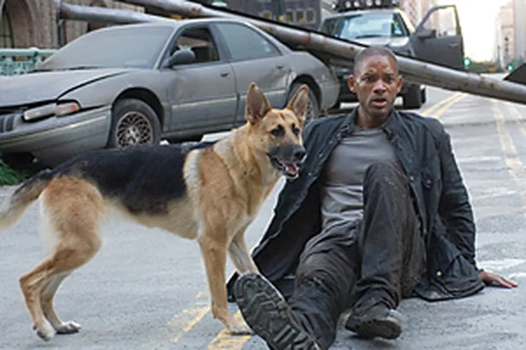 """In """"I Am Legend,"""" Will Smith stars as the scientist who's apparently immune to virus he created that has wiped out the population of New York City."""