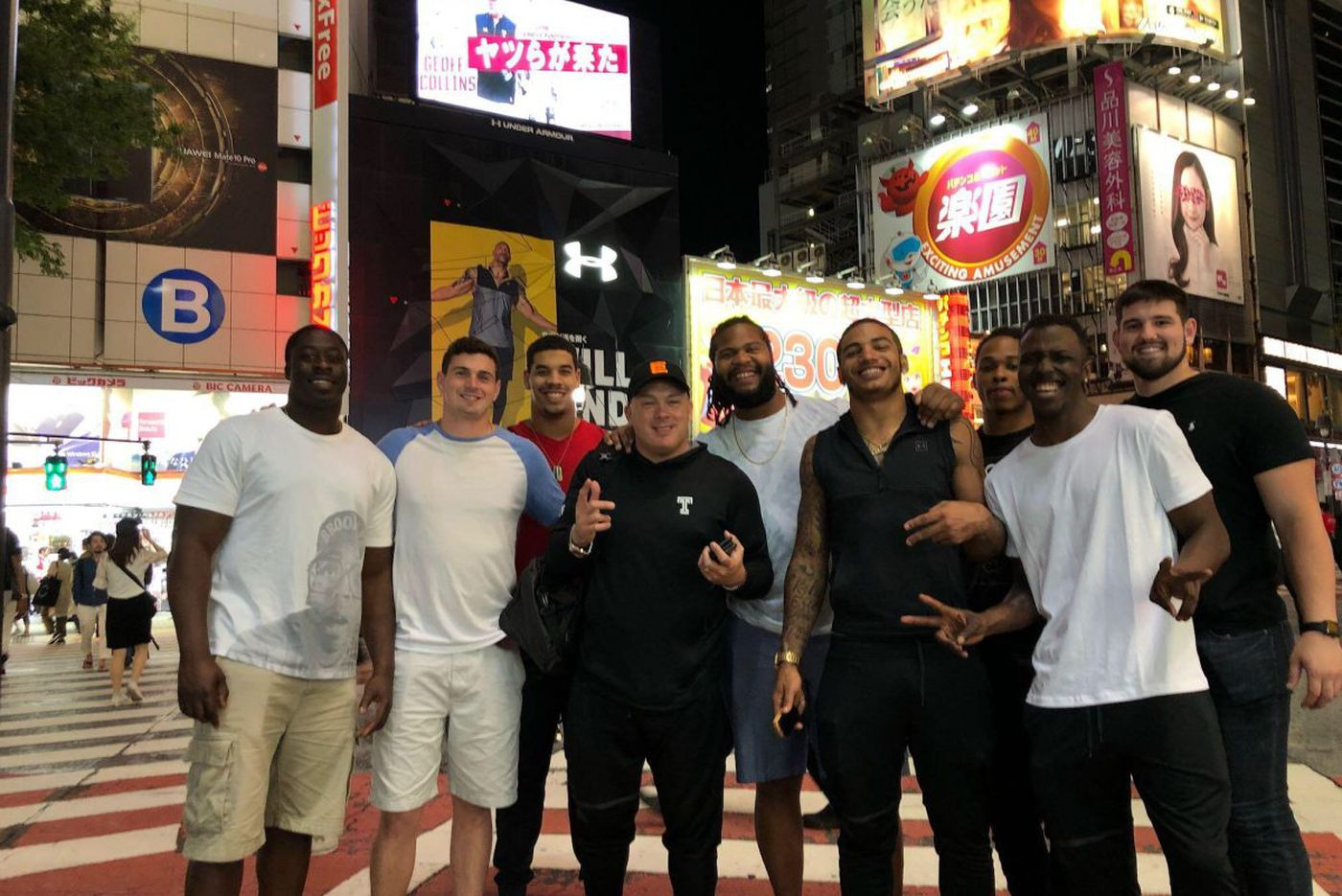 Big guys from Temple got big welcome in Japan