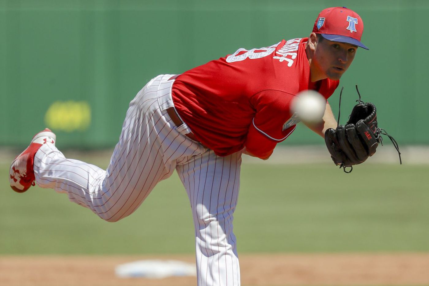Phillies' Jerad Eickhoff searching for the right grip for a change-up
