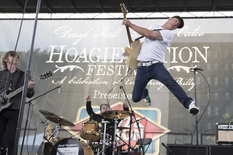 Tommy Conwell, right, and the all-star Philadelphia band performs at the inaugural Hoagie Nation Festival at Festival Pier on May 27, 2017.
