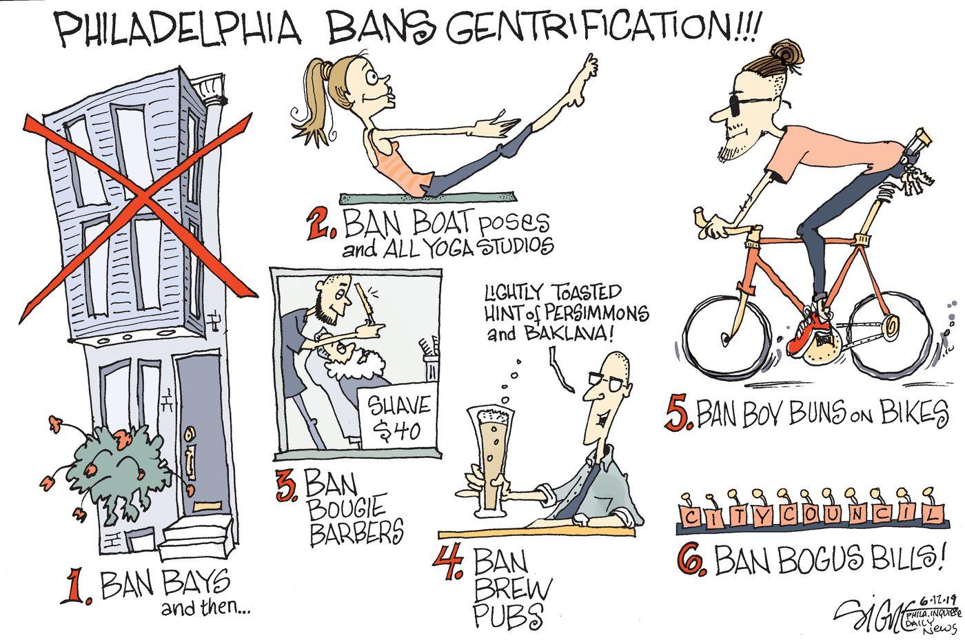 Political Cartoon: Philadelphia bans gentrification!