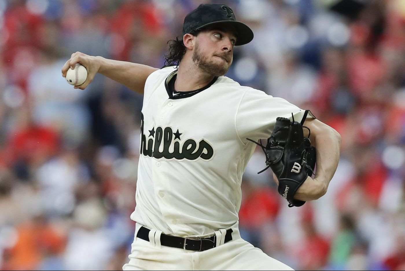 Aaron Nola flirts with no-hitter, puts Phillies alone in NL East first place for first time since 2011