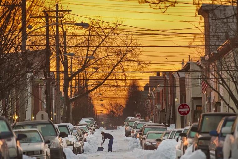 A scene of E. Letterly St as seen from Trenton Ave in the Kensington section of Philadelphia.