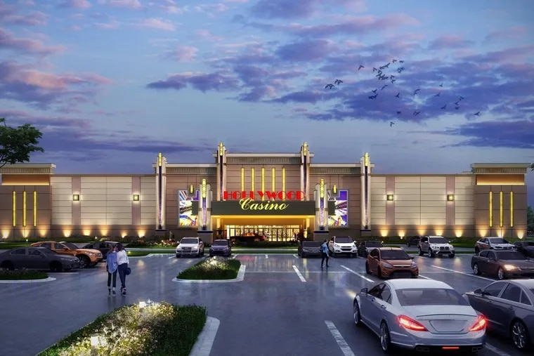 Penn National Gaming Inc. has filed an application with the Pennsylvania Gaming Control Board to build a satellite casino in Morgantown, Pa., just outside a restricted area designed to protect existing casinos from competition.