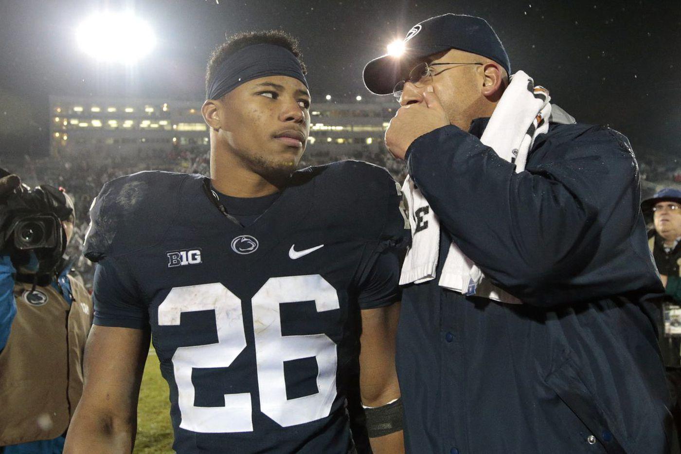 James Franklin appreciates Saquon Barkley's tough runs for Penn State