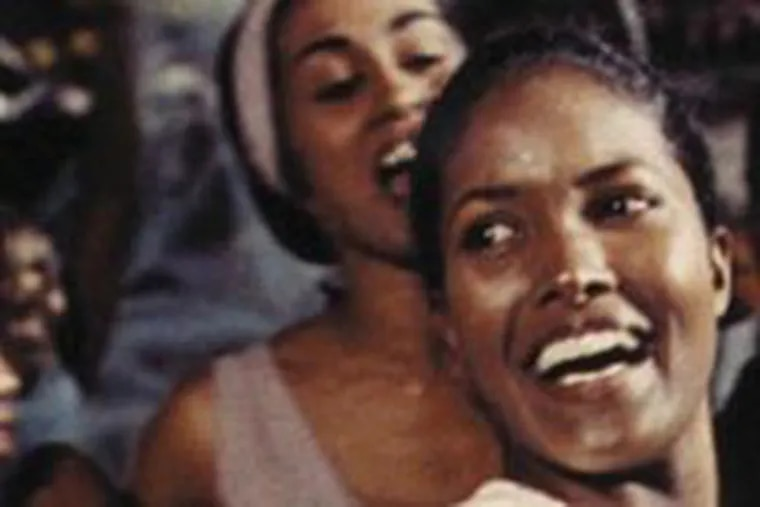 """A scene from Marcel Camus' 1959 classic, """"Black Orpheus (Orfeu Negro),"""" featuring Marpessa Dawn (right) as Eurydice. It is in the six-film boxed set Essential Art House Volume II."""