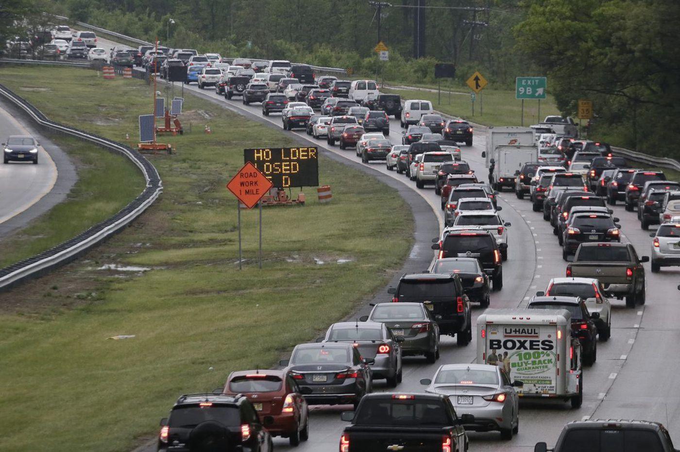 Jersey Shore travel alert: traffic jams await. And it starts now