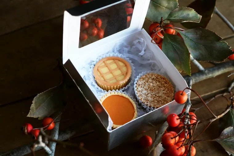 The chocolate works dept. at Shane Confectionery used the peanut butter cup mold to make these tiny pies.