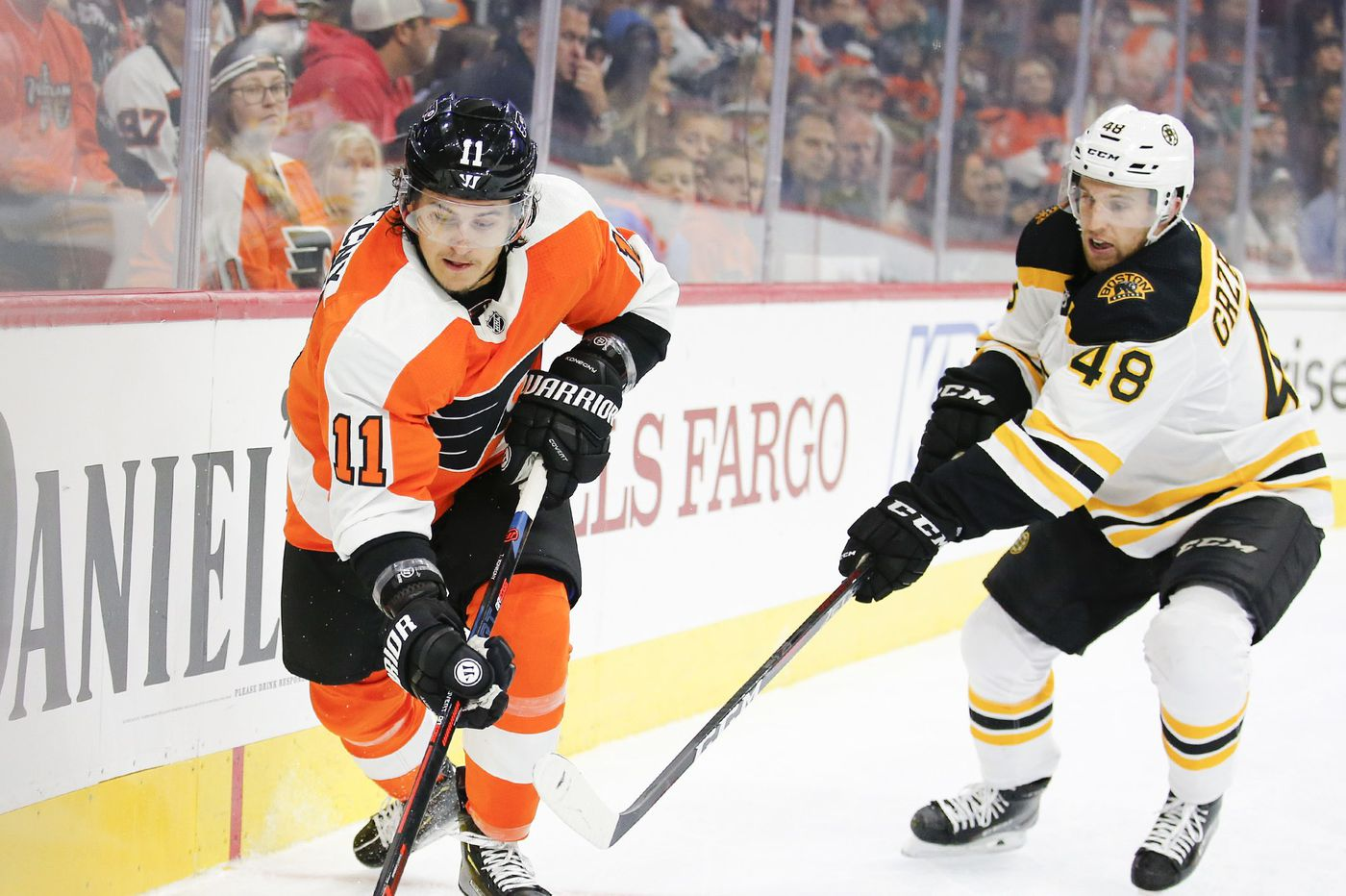 Travis Konecny leaves Flyers practice early, is latest worry in injury-filled start to season
