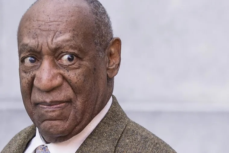 Bill Cosby leaves the Montgomery County Courthouse on Monday after the first day in a pivotal pretrial hearing in advance of his retrial on sexual assault charges.