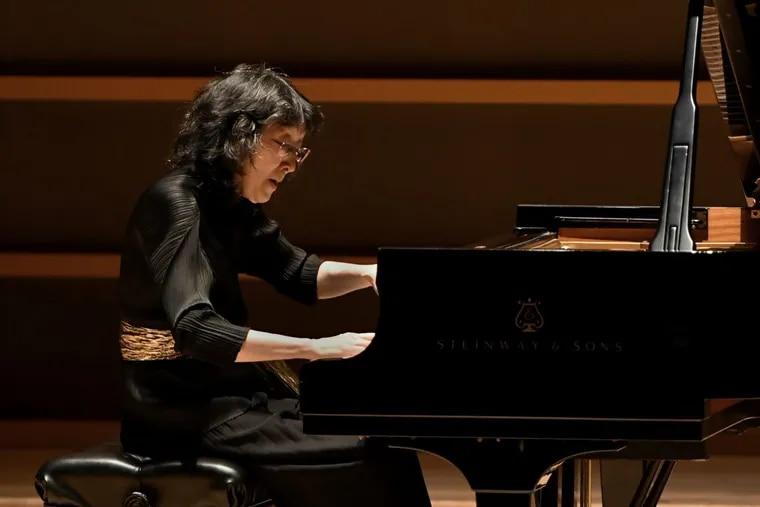 Mitsuko Uchida performing Friday night at the Perelman Theater