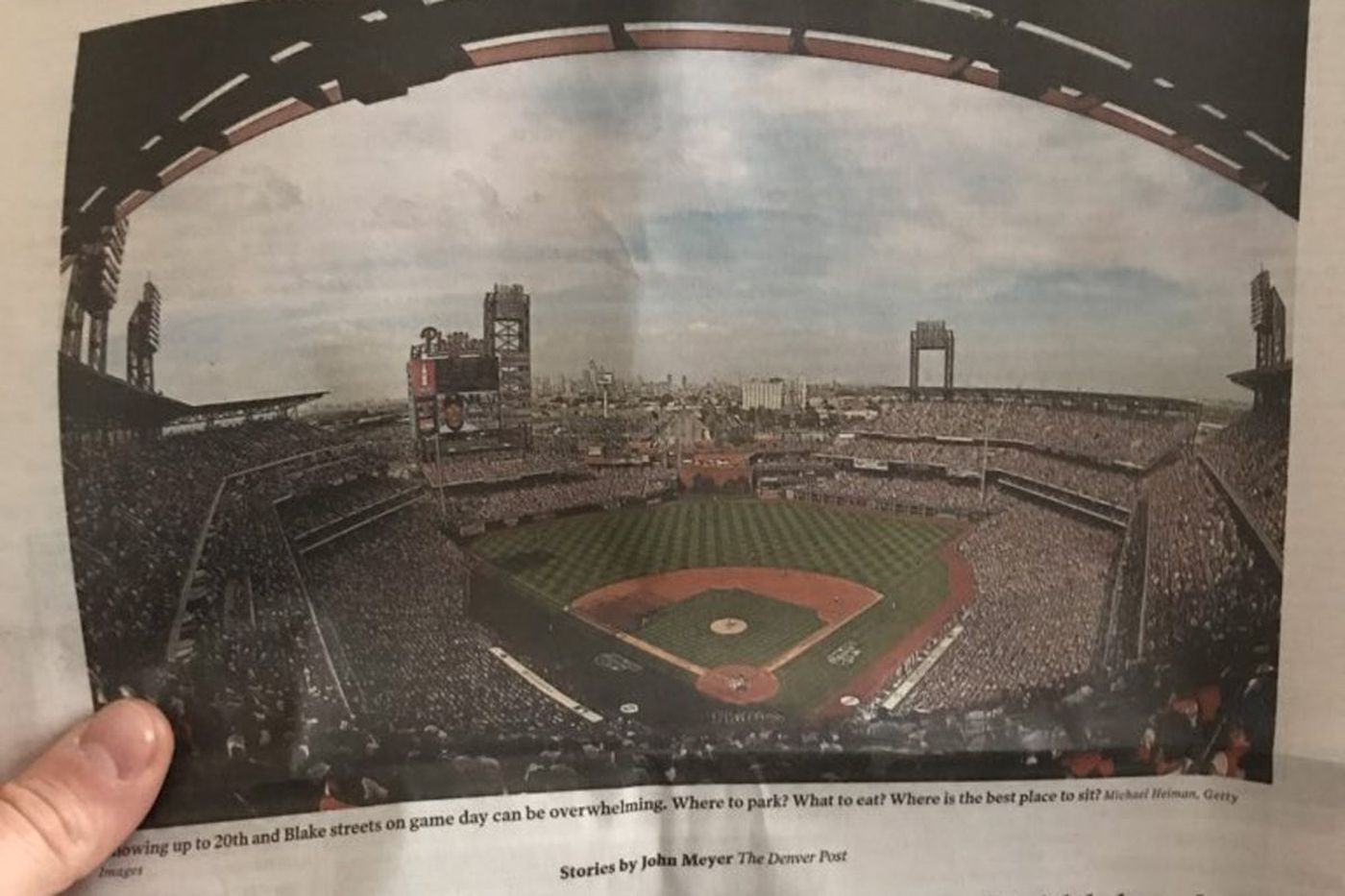 Denver Post mistakenly features Citizens Bank Park instead of Coors Field