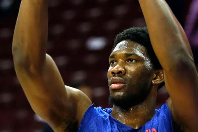 Joel Embiid has missed all of the season with a stress facture.