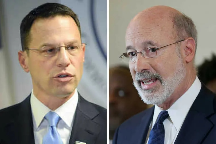 Attorney General Josh Shapiro (left) and Governor Tom Wolf (right) commit to representing Pennsylvanians.