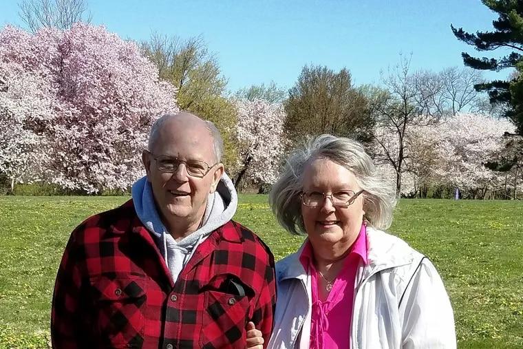 David Heisler and Carrie Taylor Heisler in 2019 in Fairmount Park.