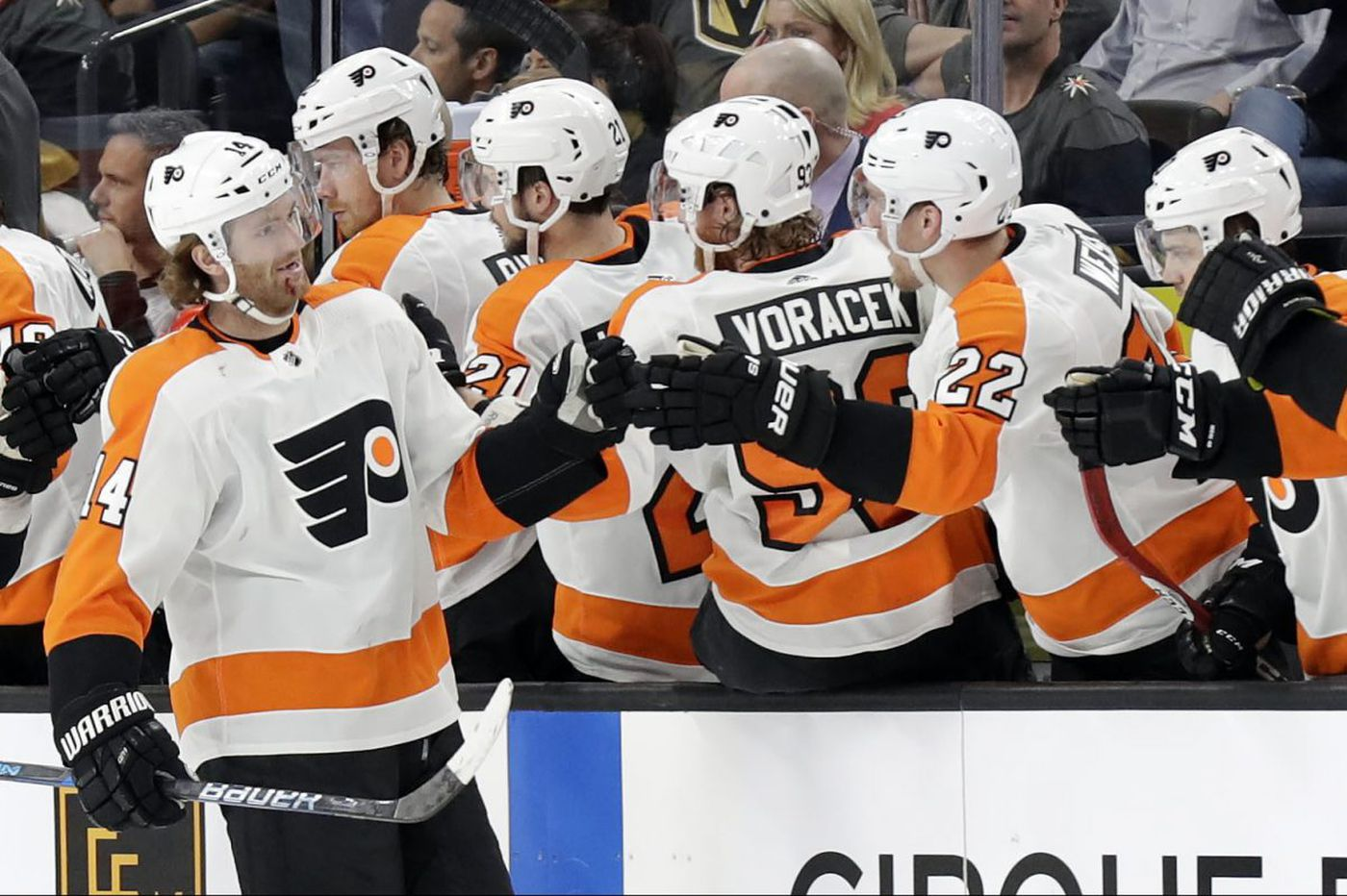 Sean Couturier, Michal Neuvirth lead Flyers to win in Vegas