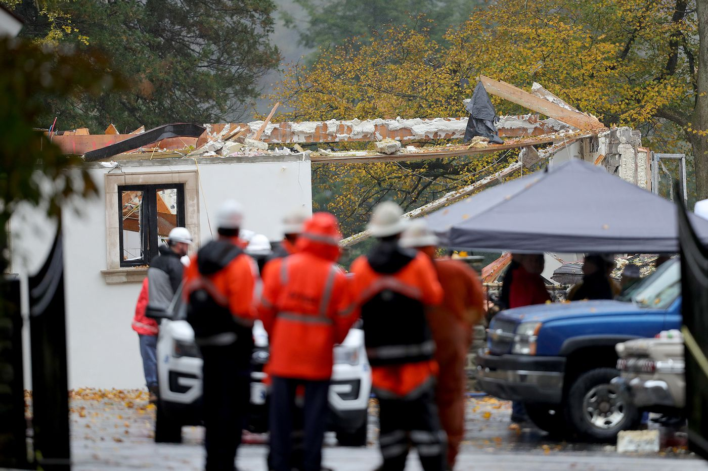 A day after Gladwyne home explosion, questions remain about what caused the blast