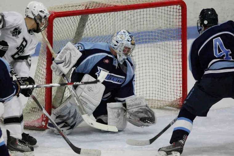 """St. Augustine goalie Joe Pantalone had a shutout against Bishop Eustace until less than four minutes remained in the game.""""Joe is so focused,"""" said teammate Roman Ammirato. """"He's very quick, and he's always in good position."""""""