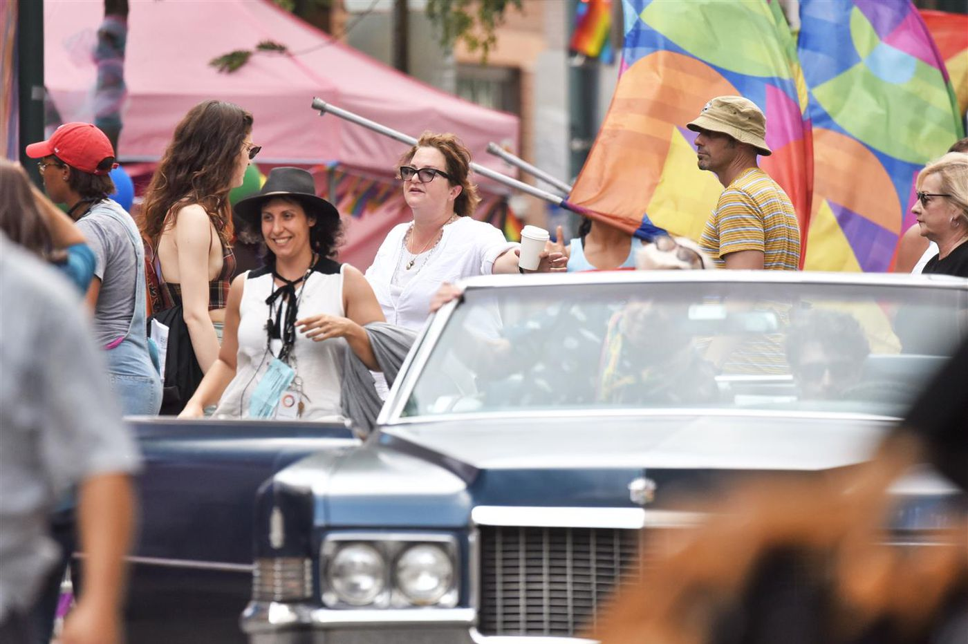 New set photos from 'Dispatches from Elsewhere' feature Sally Field, a recreation of the Philly Pride parade