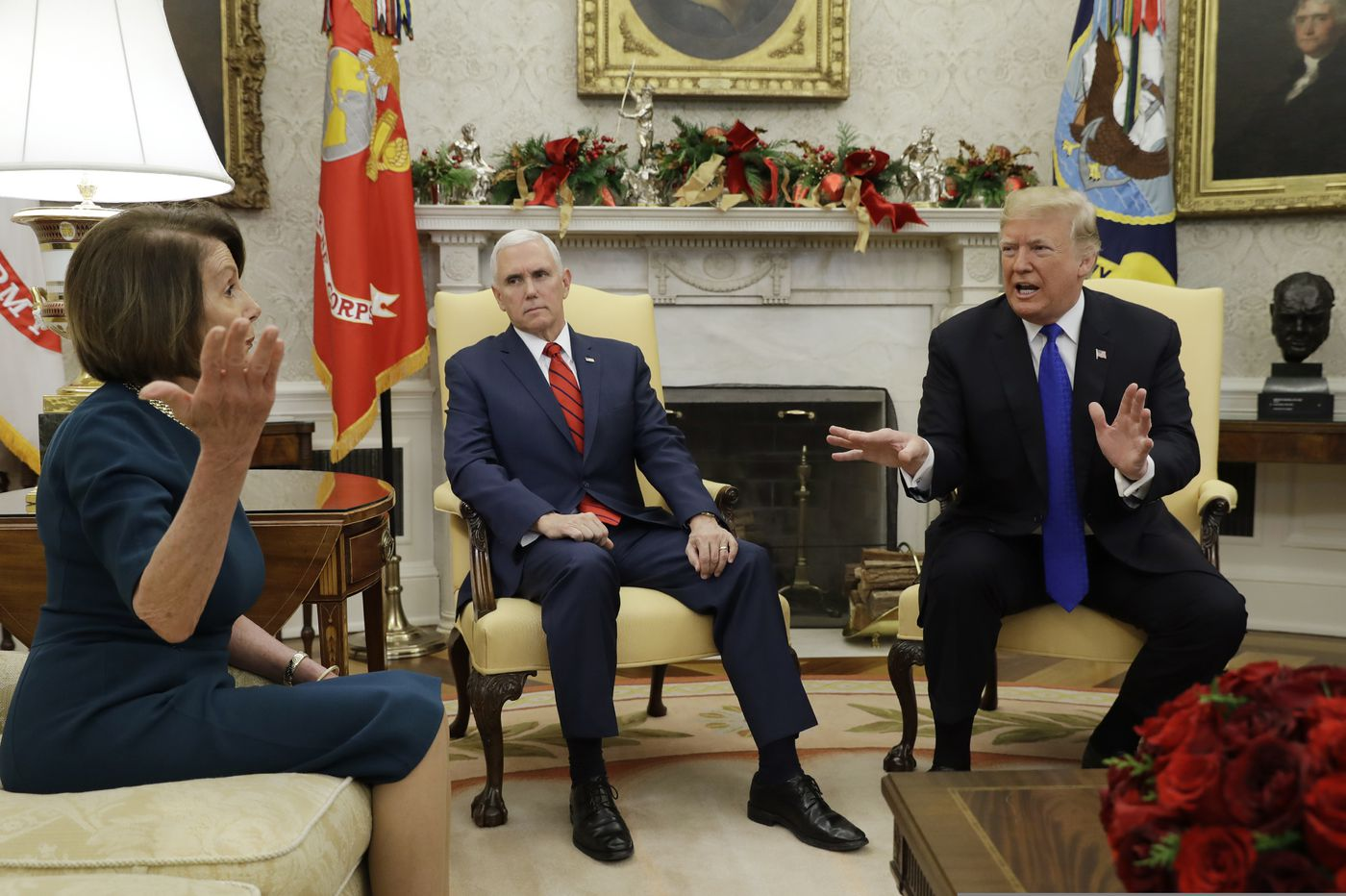 Trump fights with Pelosi and Schumer at White House over border wall