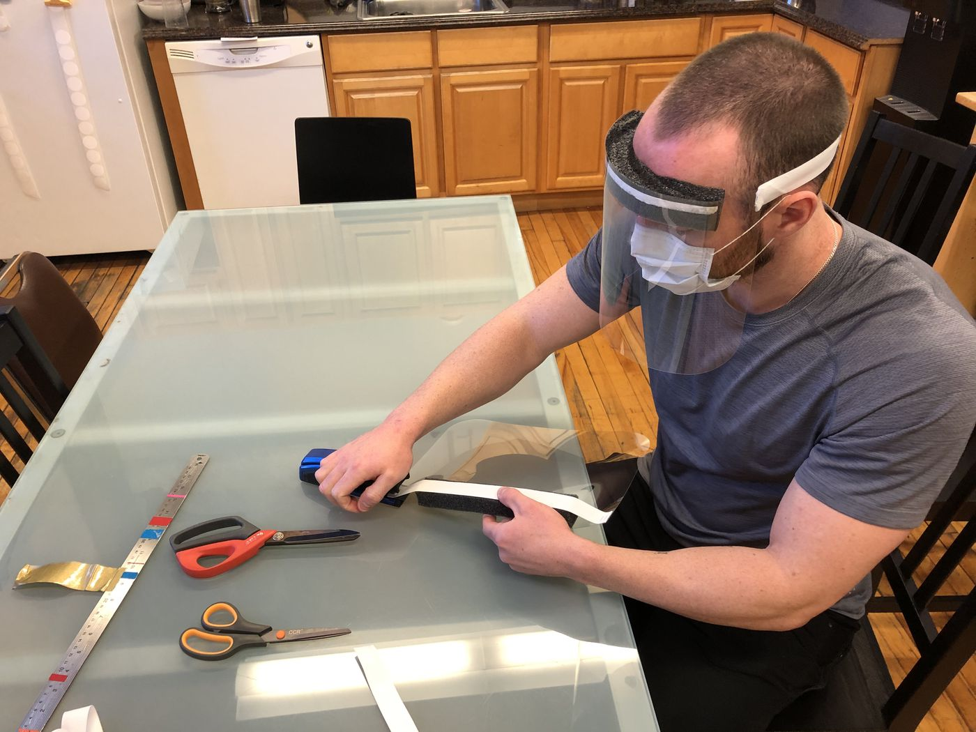 Mobile Outfitters of Manayunk is a business pivoting to making masks instead of cellphone cases and accessories.