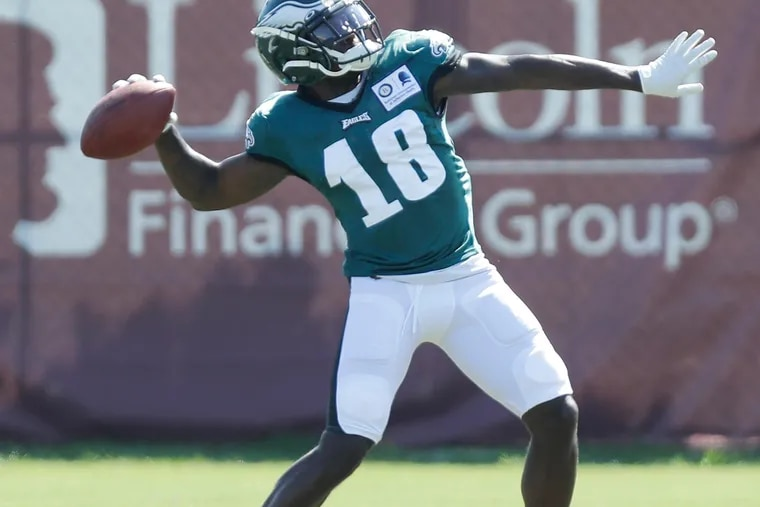 Eagles rookie wide receiver Jalen Reagor got off to a strong start at training camp Monday.