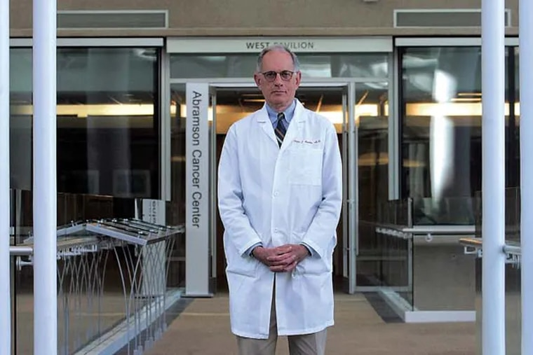 University of Pennsylvania endocrinologist Peter Snyder on the third floor of the Perelman Center for Advanced Science, 3400 Civic Center Blvd, Phila. ( Bonnie Weller / Staff Photographer )