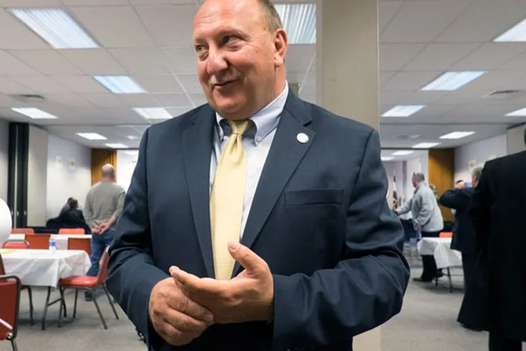 Allentown Mayor Ed Pawlowski. Pawlowski suspended his campaign for U.S. Senate on Monday night, four days after FBI agents executed search warrants at Allentown City Hall. (ED HILLE/Staff Photographer)