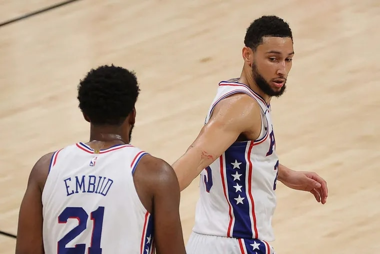 Ben Simmons (25) no longer wants to play alongside Joel Embiid on the Sixers.