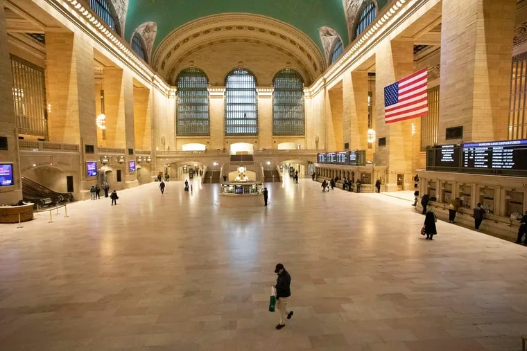 Commuters passing through Grand Central Terminal during the morning rush hour Monday.