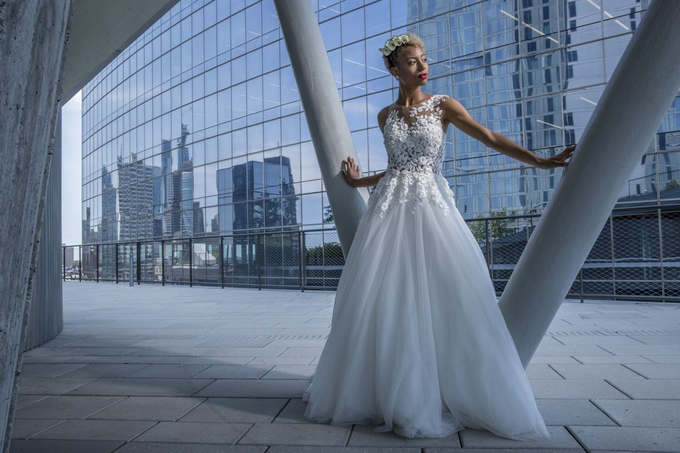 Ball gown redux: Full skirts back for bridal, but reinvented