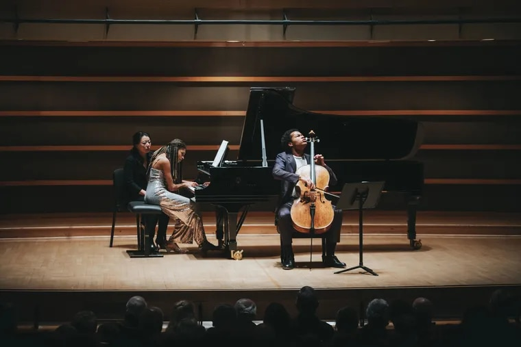 Sheku and Isata Kanneh-Mason at Philadelphia Chamber Music Society concert Tuesday night.